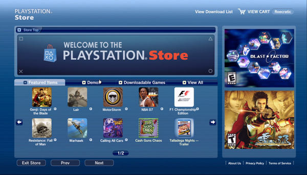PlayStation Store Upgrade - October 2012