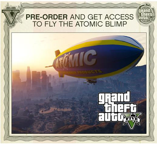 GTA V Pre Order and Get the Atomic Blimp