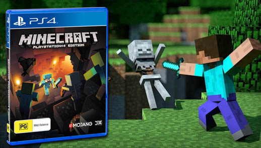how to play 2 player on minecraft ps4