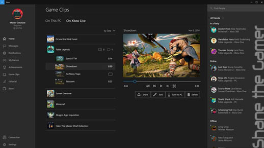 Xbox and Windows 10 Integration