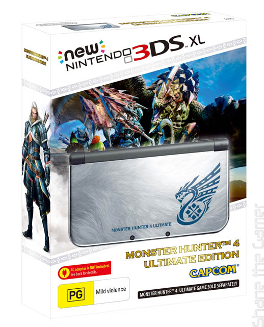 New Nintendo 3DS XL HW Monster Hunter 4 Ultimate Edition
