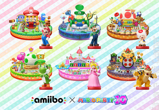 amiibo x Mario Party 10 art