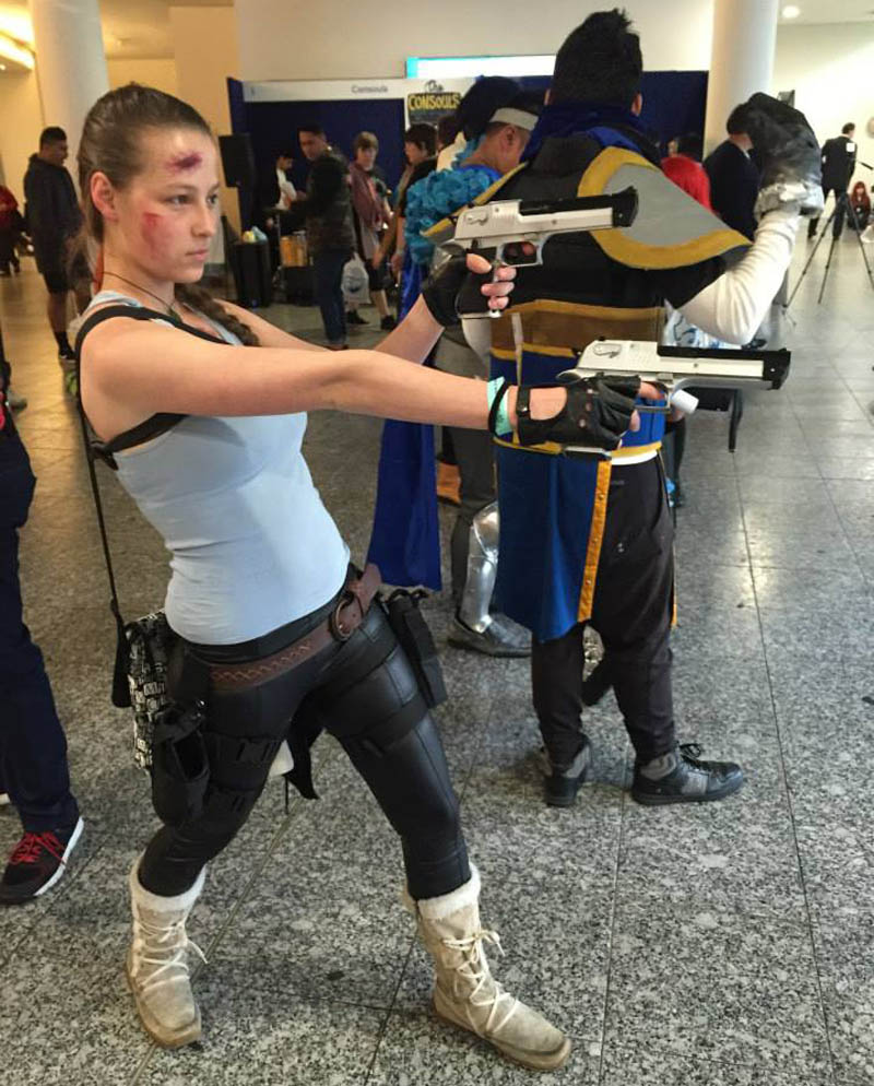 Our very own Jude as Lara Croft.