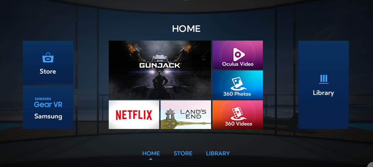 Gear VR Home Menu