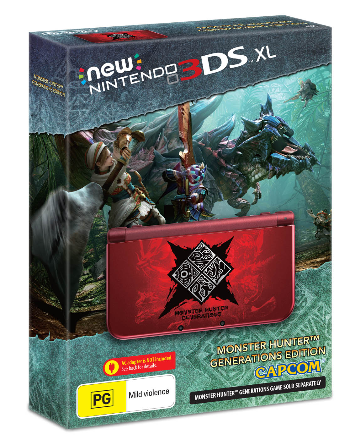 New Nintendo 3DS XL Monster Hunter Generations Edition_ Packshot