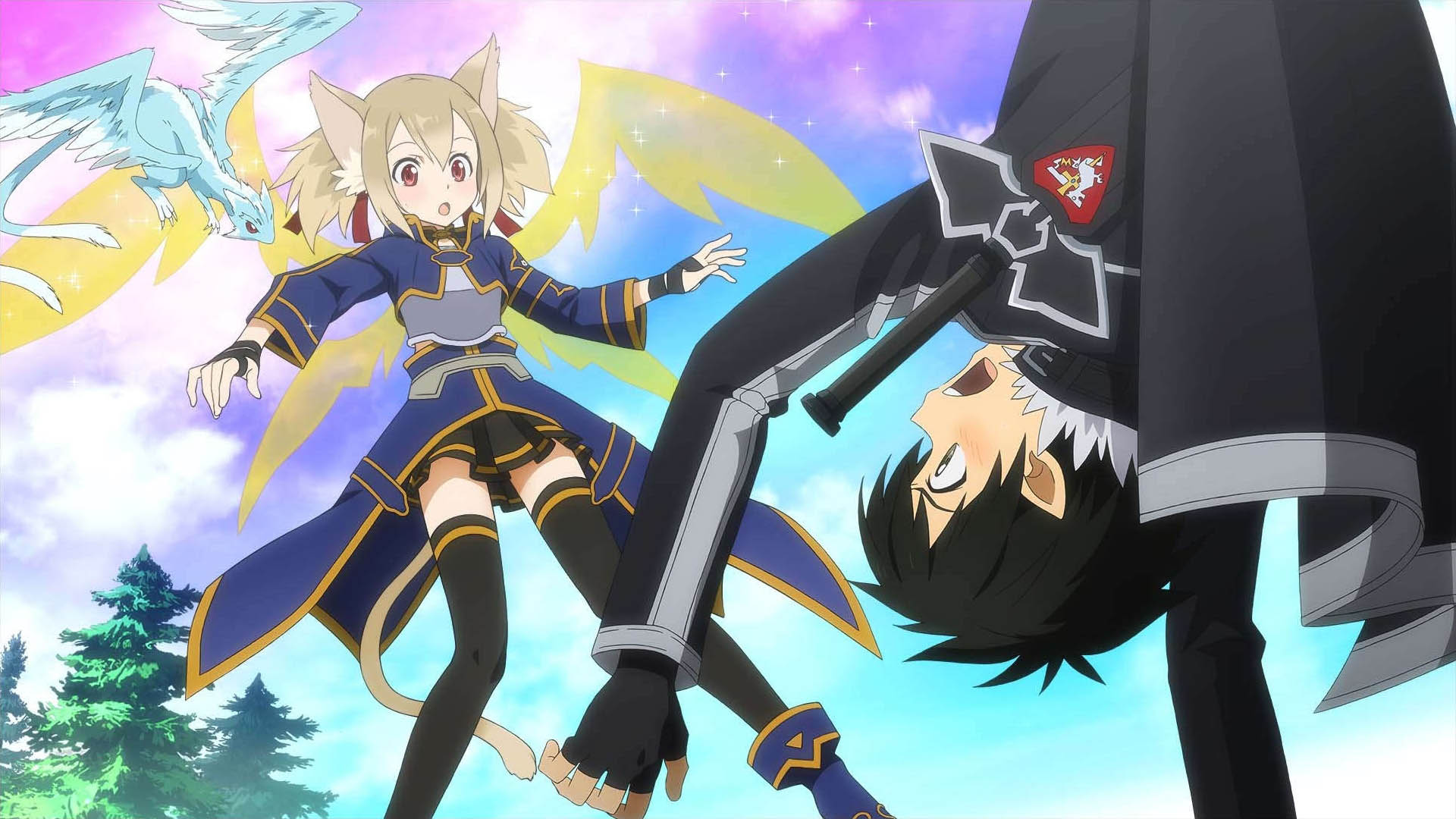 Basically The Plot Of Game Is Two Online Worlds Are Being Merged By A Big Enemy This Needs To Be Stopped While Pixie Daughter Kirito And