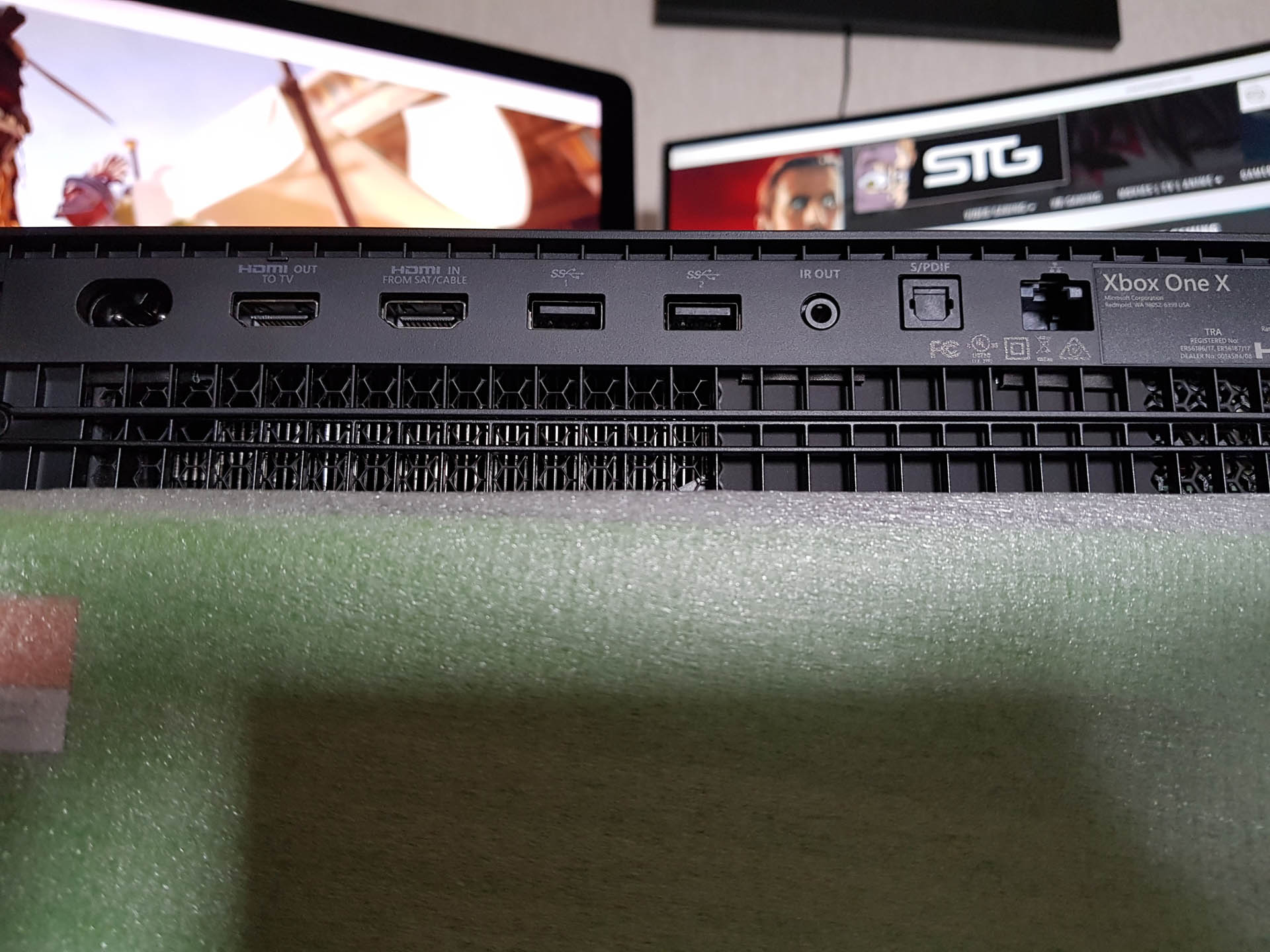 The Rear Of Console Sees A Few More Ports Than Xbox One Firstly You Have Two HDMI Input And Out USB Can Aslo Be Found
