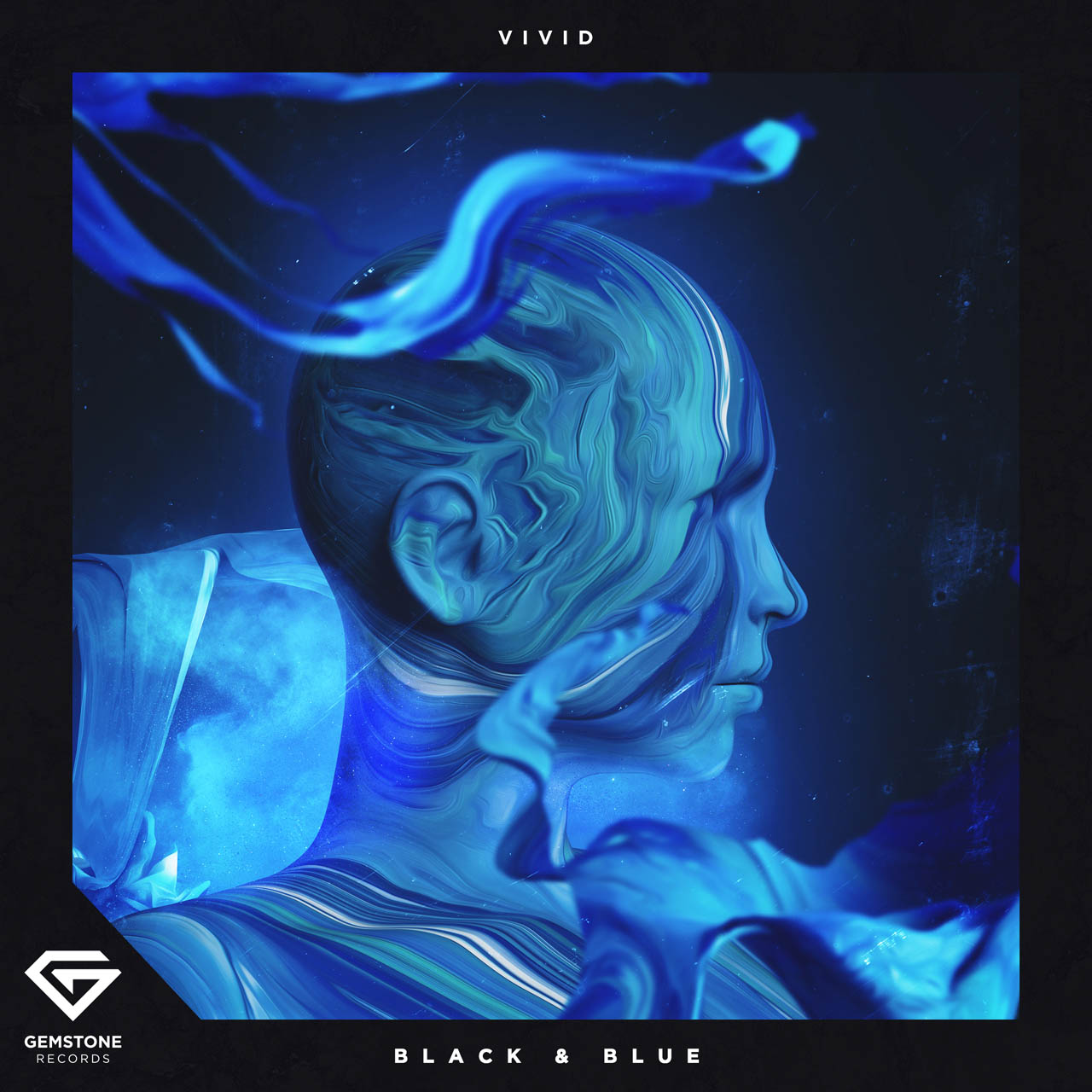 Vivid Black and Blue