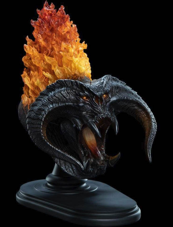 THE LORD OF THE RINGS - THE BALROG (FLAME OF UDUN) CREATURE BUST