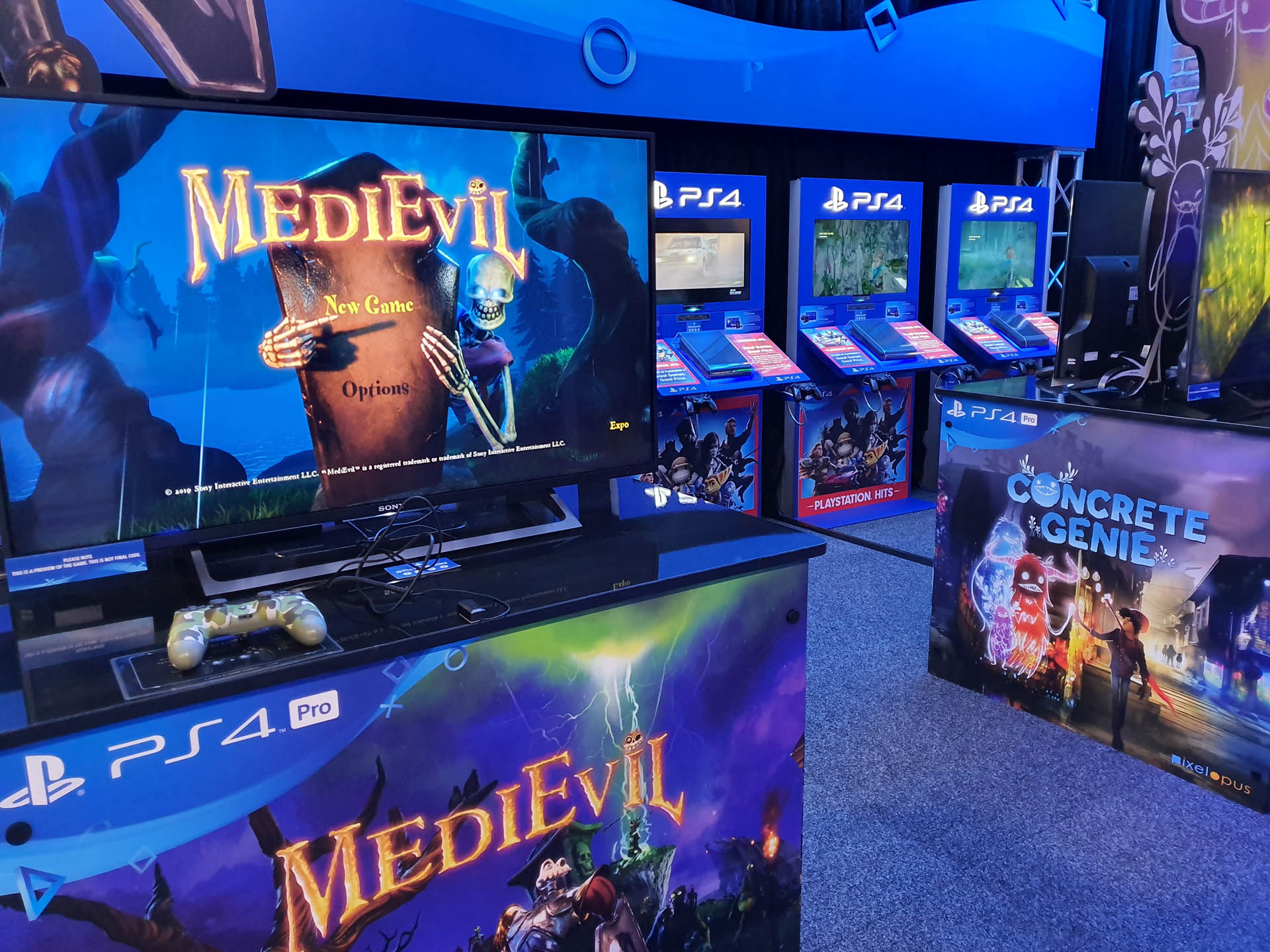 PlayStation Medievil Stand at Armageddon Expo 2019