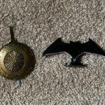 DC Kuzos - Batarang and Wonder Woman Sword and Shield Steel Collectible