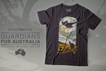 Bungie Eyes Up Guardians Australia Fire T-Shirt