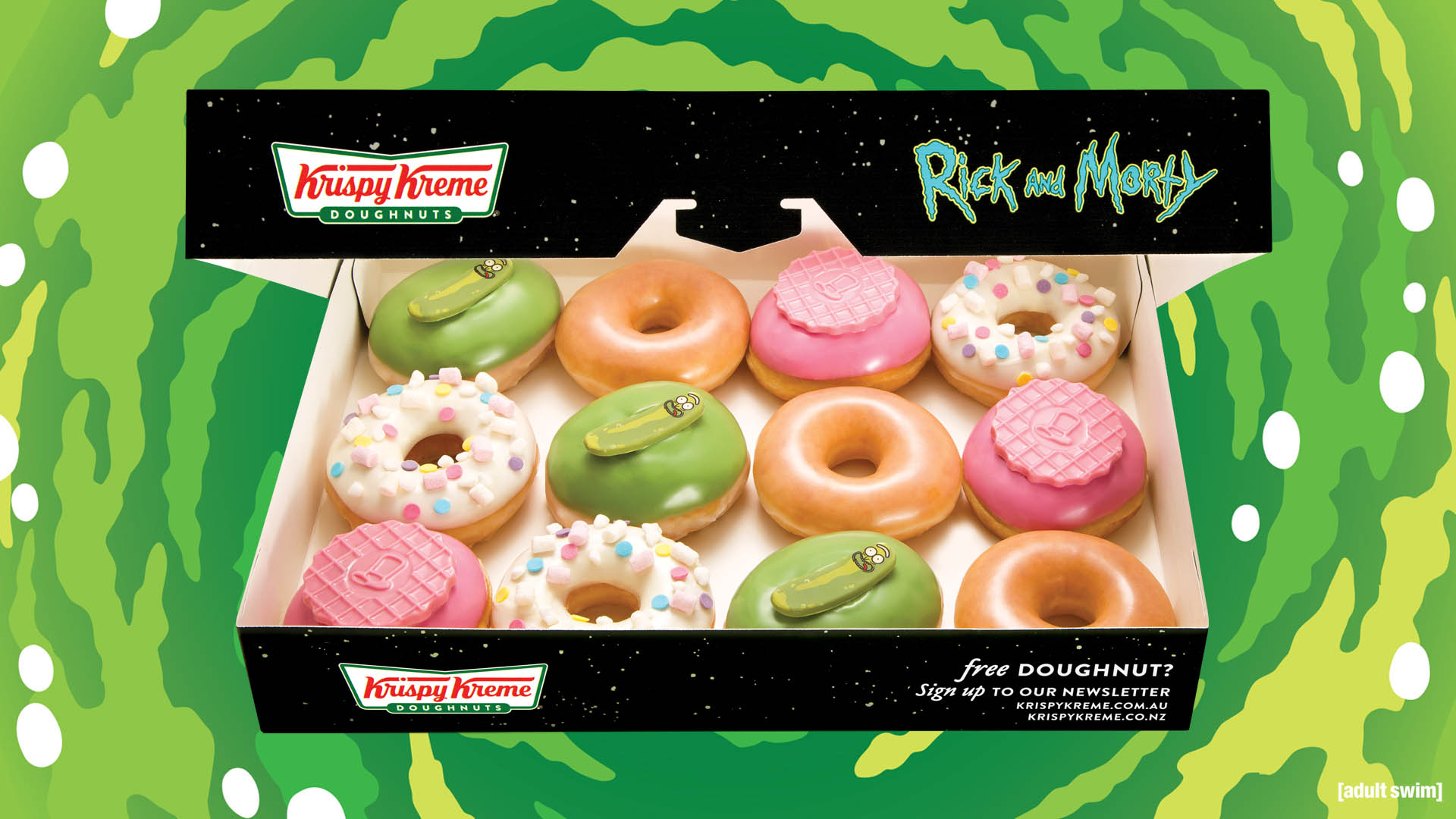 Krispy Kreme - Rick and Morty Limited Edition