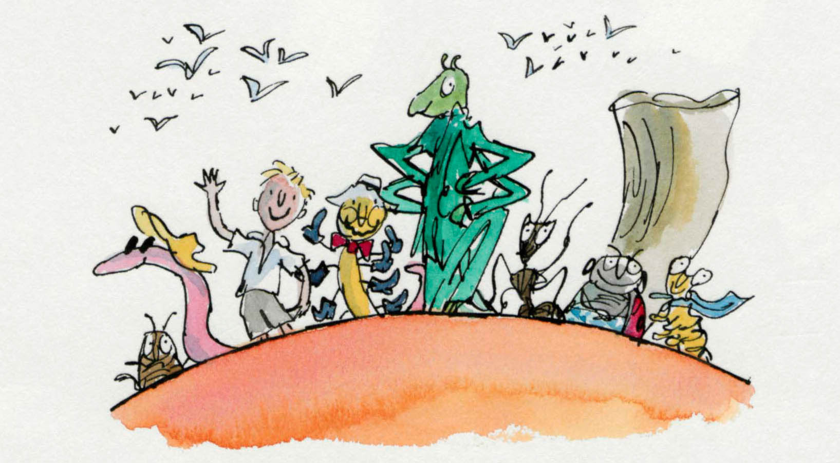 James and the Giant Peach - Quentin Blake