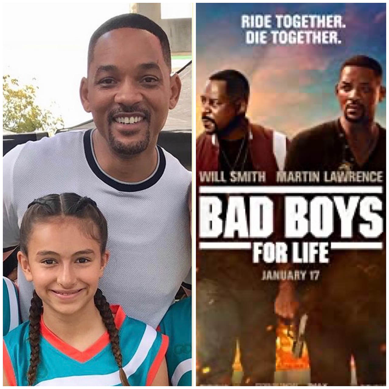Kiley Opsal with Will Smith