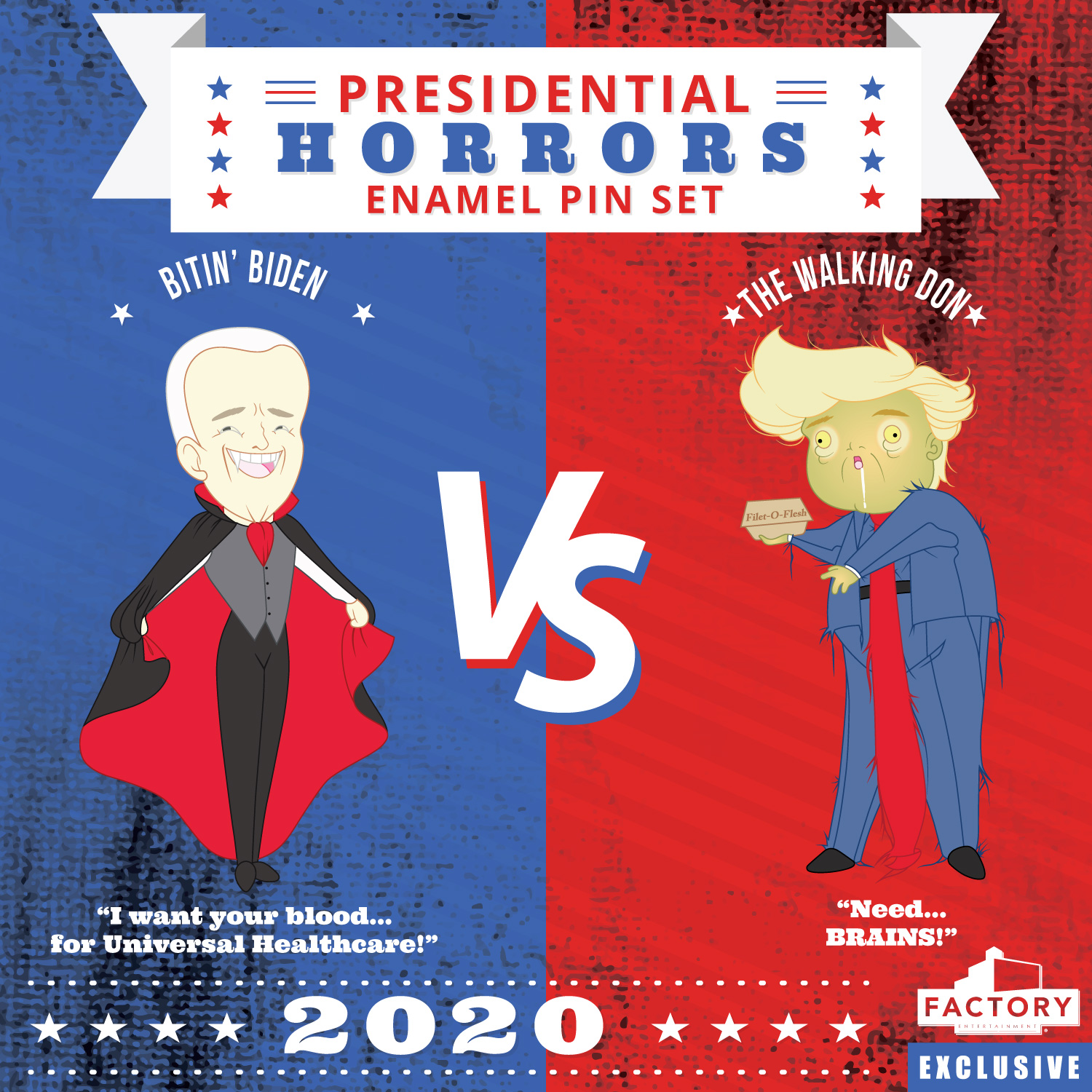 Presidential Horror Pins - Factory Entertainment