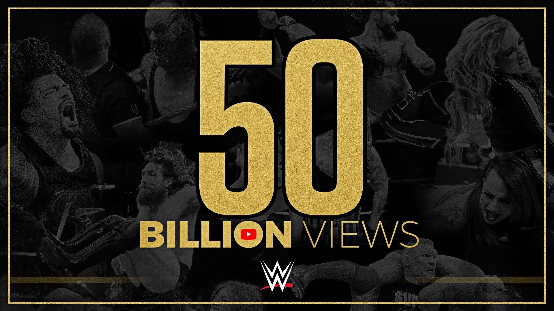 WWE 50B Views on YouTube Channel