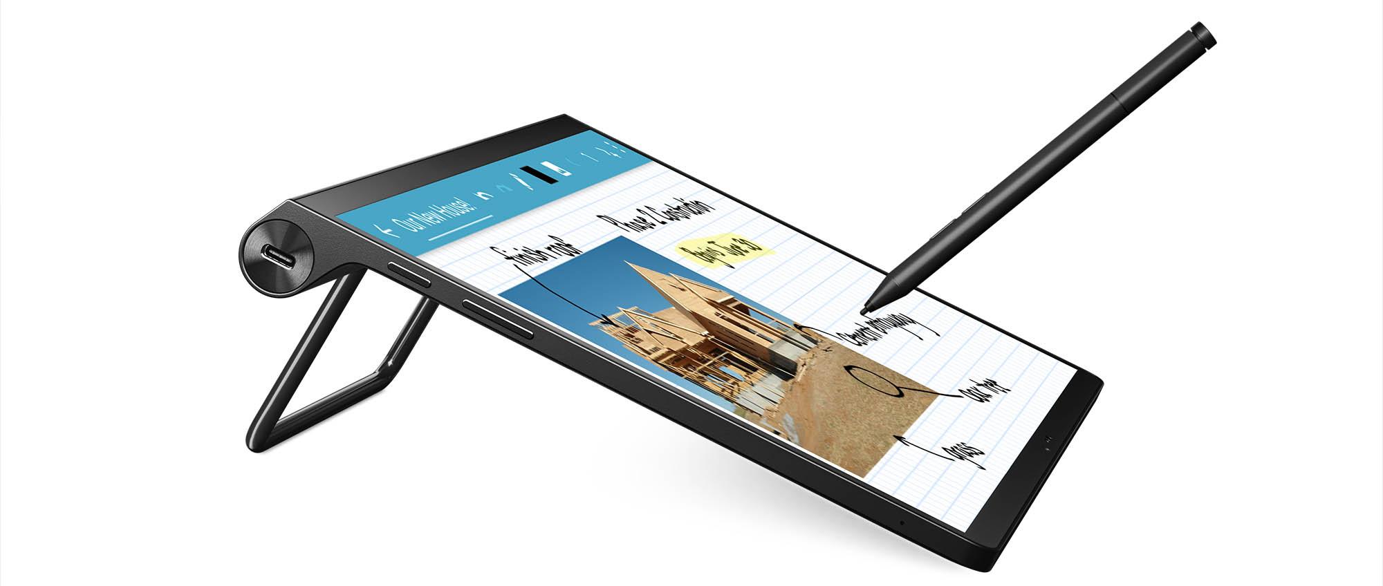 Lenovo Yoga Tab 13_Tilt Mode_with Pen