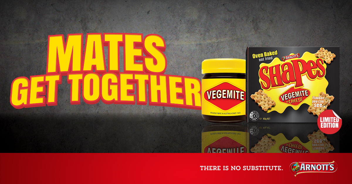 Arnott's Shapes Vegemite and Cheese