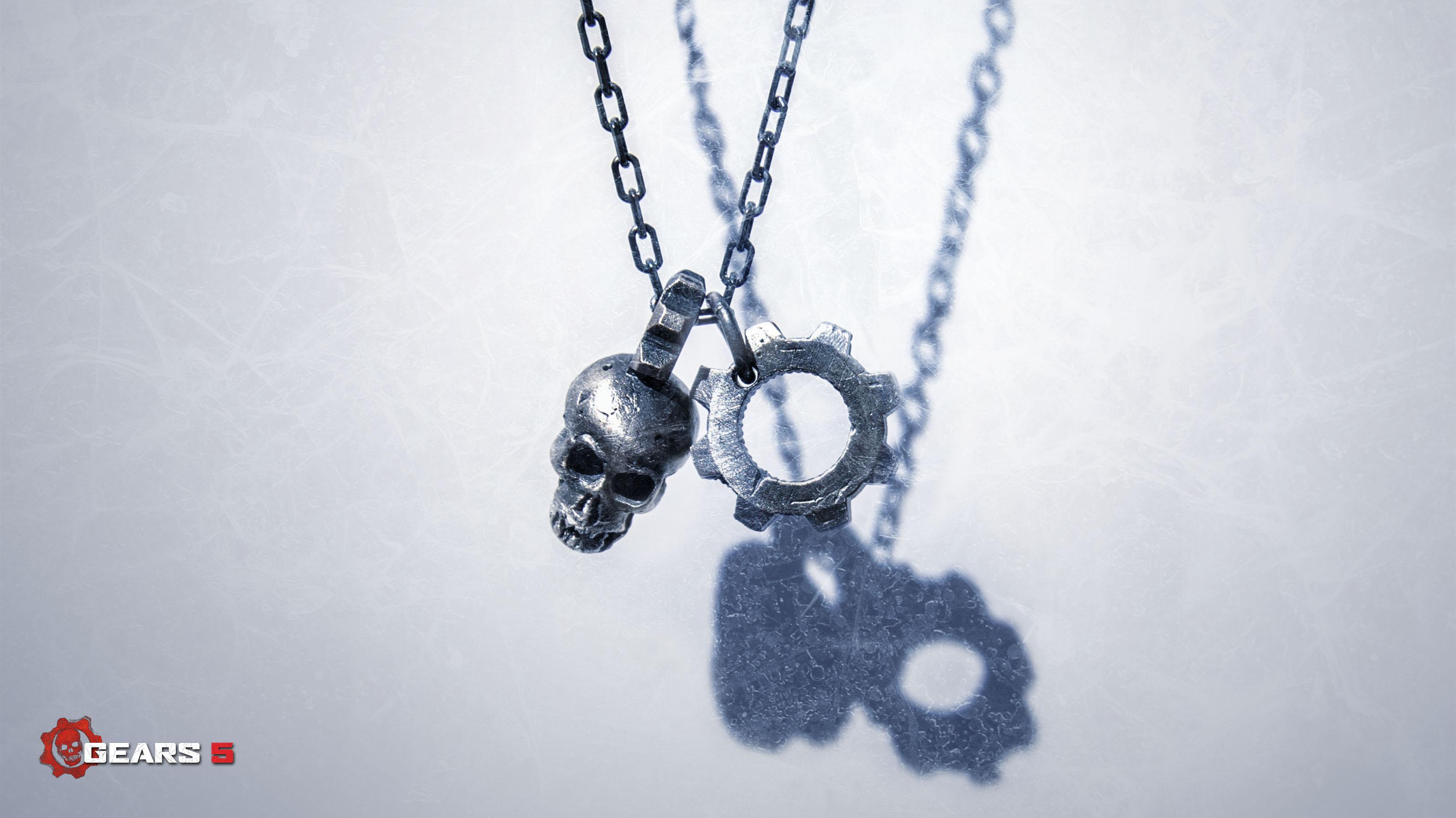 Gears 5 Jewellery - Pendant Necklace (Landscape)