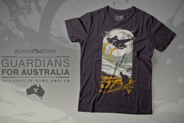 Bungie Eyes Up Guardians Australia Fire T-Shirt